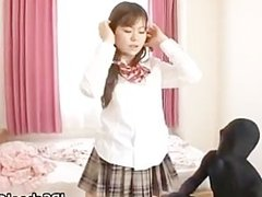 Hot Japanese school girl has a morning part5
