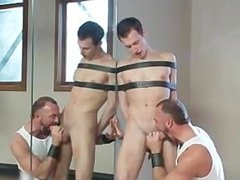 Josh gets bound and ass slapped gay BDSM part4