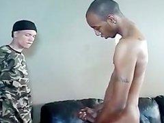 Black guy fucks white twink