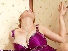 Glamorous fetish gloryhole bitch