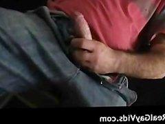 Hairy dude masturbating his gay cock part4