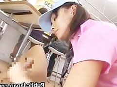 Horny Asian girl gets horny in the store part1