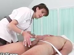 Nurse domina and her patients cock