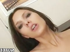 Sexy pretty chick gets juicy pussy fucked