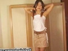 Real asian cutie strips and toys her part4