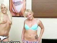 Real lesbian teens striptease