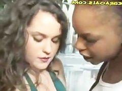Interracial Rough Lesbian Babes Play