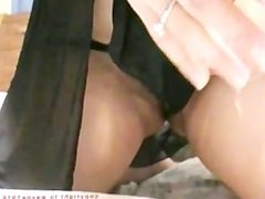 My ex-gf playing with her pussy and squirting