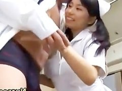 Japanese asian nurse sucking cock