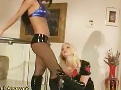 Blonde whore gets ass fucked with dildo part3