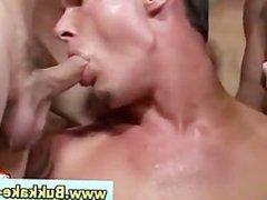 Nasty bukakke gay gets anal fucked