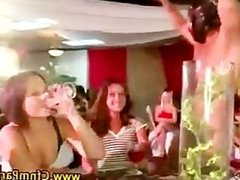 Cfnm real amateur party girls suck stripper cock