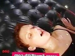 Bukkake slut fuck and cum facials