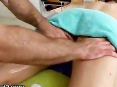 Gay masseur stud checks out straight guys ass