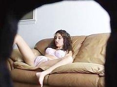 amateur girl caught masturbating