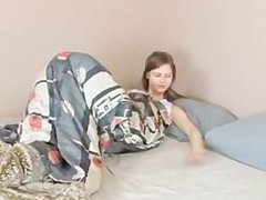 Teen Girl Wakes and Masterbates