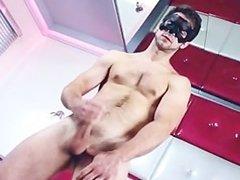 Great looking guy jerking his hard dick part4