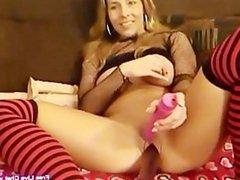 Hot sexy MILF seduces young John for webcam