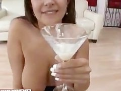 Penelope Piper is thirsty for a cum cocktail
