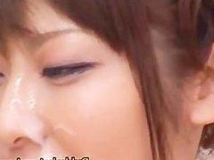 Harumi Asano Asian chick in bukkake part1