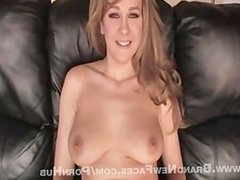 Amy Takes Dick On A Leather Couch