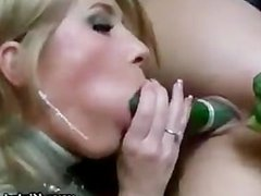 Double penetration for nasty lesbian thanks to her eager friend