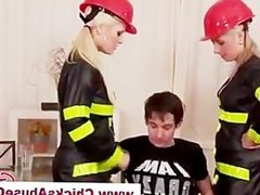 Sexy femdom fire fighter babes