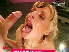 Bukkake fetish slut blowjobs and cum facials