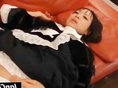 Asian maid gets slit fucked