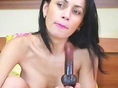 sexy brunette with hot boobs fingering her pussy(6).flv