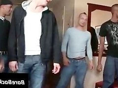 Gangbang with a horny twink