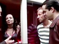2 amateur guys meet and pay Dutch hooker for sex
