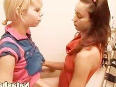 lesbians testing new big red vibrator