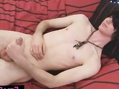 Black haired emo twink janking his cock part4