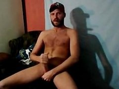 Young Hairy Redneck Adam Clifford Smoking And Blowing A Load
