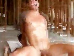 Nasty public twink gets a cumshot