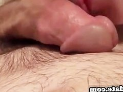 GF gives nice handjob until her BF cums