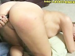 Long Toy as Ass Punishment For Blonde