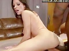 Hot Cougar Screaming For Black Pole