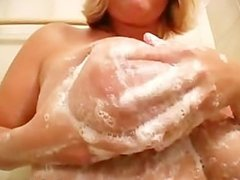 Ellen Washes Her Hooters In The Shower
