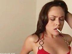 Smoking fetish Brunette