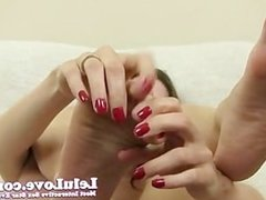 Lelu Love-Small Penis Humiliation Toe Fucking