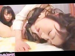 Teacher and School Girl Licking
