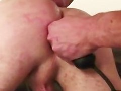 DILF uses toys and his cock on stud