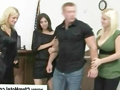 Cfnm femdom judge punishes young man