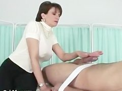 Mistress leaves her slave in the dark aftre he cums