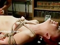 Lezdom mistress using eletric toys