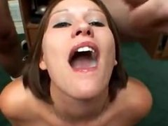 Teen Doesnt Like Taste of Cum