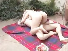Real amateur outdoor couple oral sixtynine