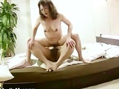 Hairy mature maiko taking on cock